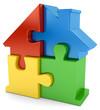 zusammengesetztes Puzzlehaus