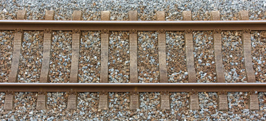 Railway track from a top view