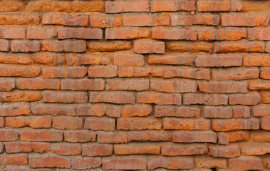 Old orange brick wall