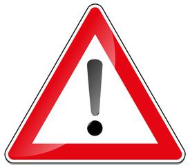 Verkehrsschild Gefahrstelle Straßenschild verkehrszeichen