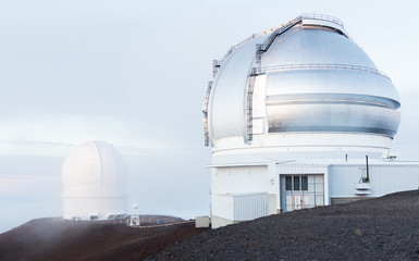Observatories on Mauna Kea Hawaii