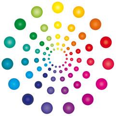 Farbkreis aus bunten Kugeln - Logo