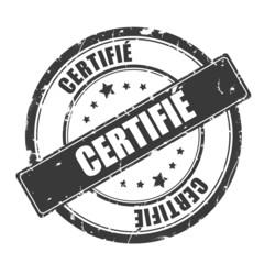 label - tampon certifié