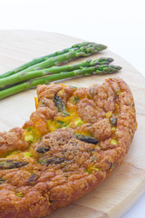 Pie with asparagus