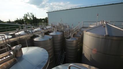 long barrel at the factory