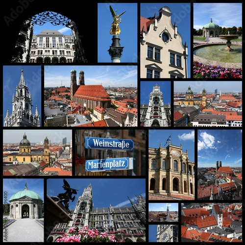 Munich, Germany photo collage