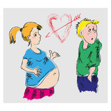 Drawing Pregnant Girl And A Guy