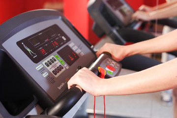 sport running  in the gym for fitness