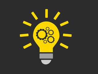 illustration - ampoule - engrenage - trouver une idée