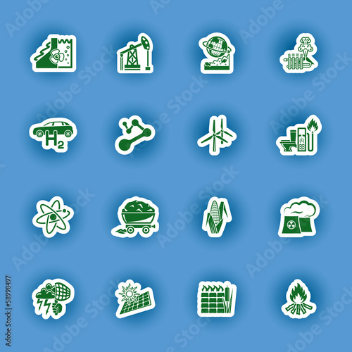 alternative energy  vector icon set