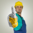 Construcion worker showing thumbs up sign