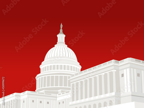United States Capitol Building in Washington DC - 58999672