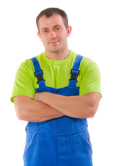 worker with crossed arms