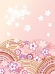 桜_和柄_淡い