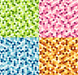 seamless colorful shiny spots pattern