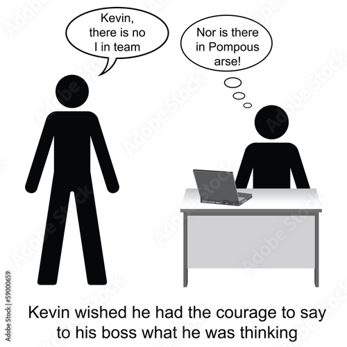 Kevin and his pompous boss