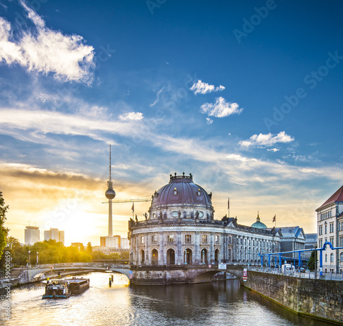 canvas print picture Berlin, Germany Scene at Museum Island