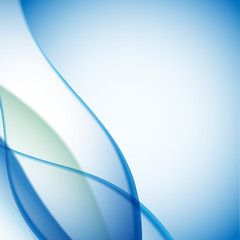 blue wave abstract background design