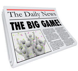 The Big Game Newspaper Headline Sports News Update