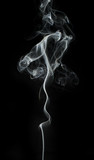 Fototapety Smoke on black background.