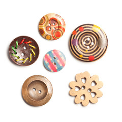 Colorful Clasper, Buttons made of wood