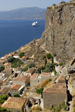 Ruins of St Sophia Church in Monemvasia, Lakonia, Greece