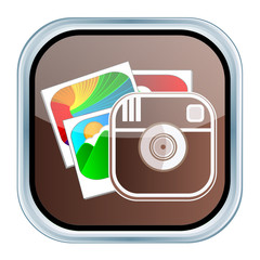 Social Media Camera and Images Icon