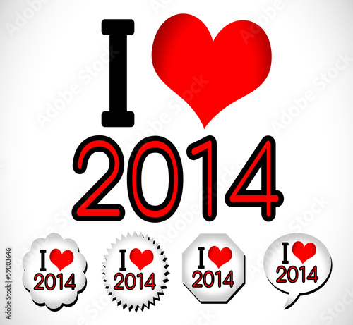 i love 2014 Happy New Year 2014