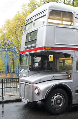 Vintage bus in London. Poster