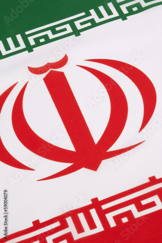 Detail on the flag of Iran