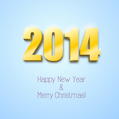 New year 2014 background gold numbers