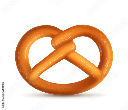Pretzel, vector illustration
