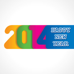 creative happy new year 2014 design stock vector
