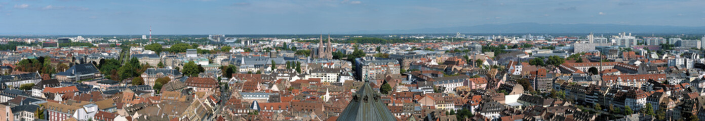 Big panorama of Strasbourg, France