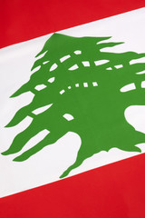Detail on the flag of Lebanon