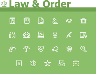 Law and Order icon set