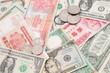 アジアとアメリカ紙幣