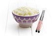 ceramic bowl with jasmine rice