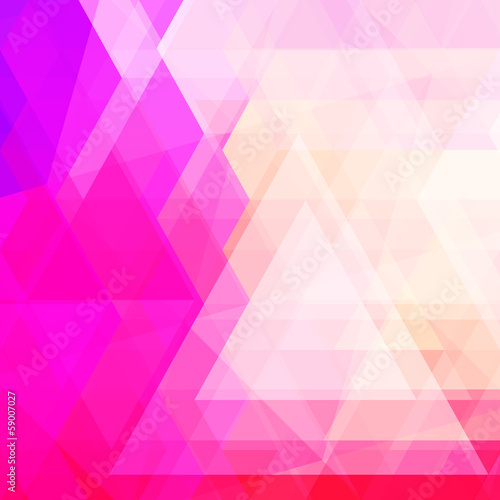 Abstract neon colorful triangle pattern background.