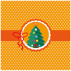 christmas tree with white dot background