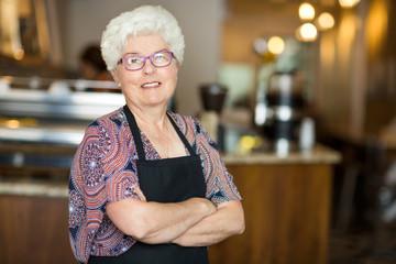 Senior Coffee Shop Owner