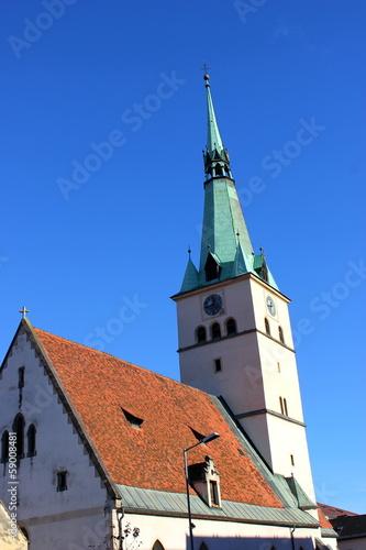 canvas print picture Ansicht der Stadtpfarrkirche von Voitsberg in der Steiermark