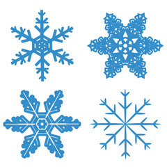 set blue Snowflake