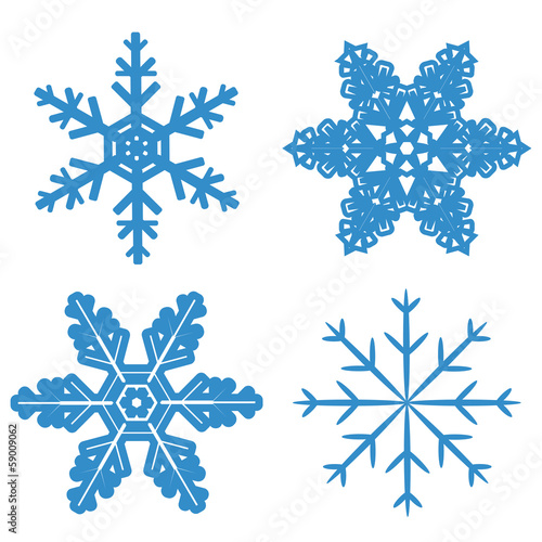 set blue Snowflake