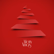 vectorial christmas tree, flat design red