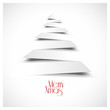 vectorial christmas tree, flat design white