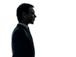 business man thinking portrait profile   silhouette