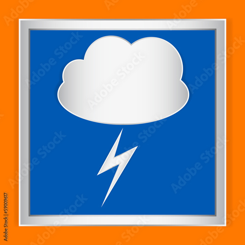 Weather icon storm