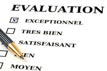 Feuille d'évaluation