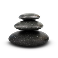 Three Pebbles Stacked